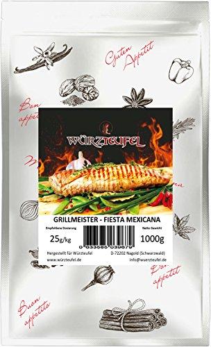 Fiesta Mexicana - pikante südamerikanische Grill - Gewürzzubereitung für Spareribs & Geflügel, Grillmeister Edition. Beutel 1000g (1KG). - Fiesta-grill-grills