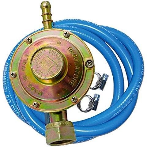 Kit regolatore gas a taratura fissa con tubo 50 cm e 2 fascette