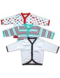 Baby Station Full Sleeve Vest-Jhabla-Set Of 3