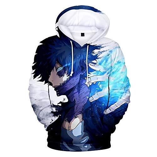 Zhangjianwangluokeji Blau Hoodie Cosplay Jacke Kapuzenpullover Sweatshirt Kostüm T-Shirt Hose (M, Stil 1) (Stiles Hoodie)
