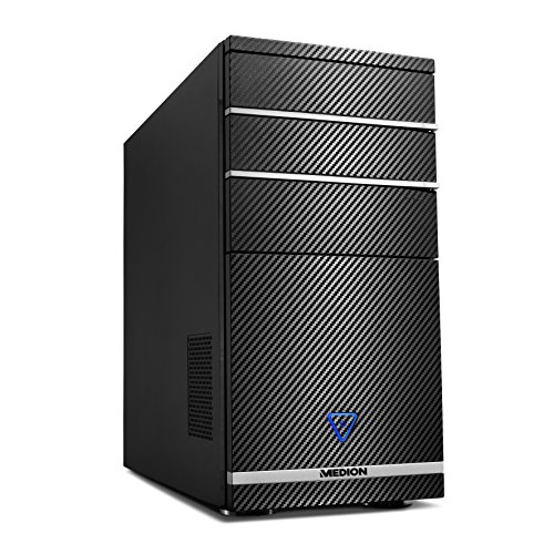 Medion M11 - Ordenador de sobremesa (Intel Core i5 2.7 GHz, nVidia GeForce GT720 2GB, disco duro de 1 TB, 8 GB de RAM, Windows 10) negro