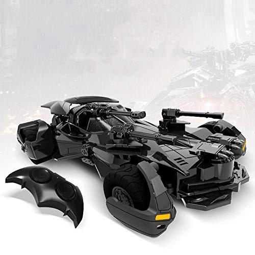Ycco Justgtice Leasgue Batmdsan Toy Remote Control Car 1:18 R/C Progetto Batmobile Smart Robot Car Kit Line Tracking Module Sensore ad ultrasuoni Modulo remoto IR ECC. Drifting aggressivo/Stunts