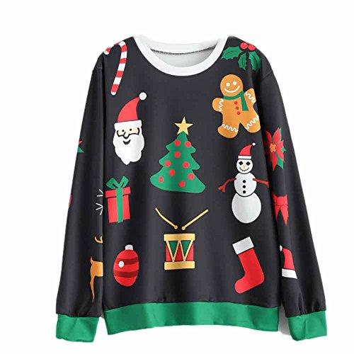 chten Langarm Sweatshirt Damen Christmas Pullover Bluse (Passenden Family-shirts Für Disney)