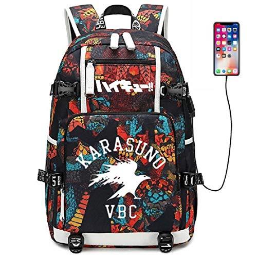 YOYOSHome HAMILIS Anime Haikyuu Cosplay Bookbag Daypack Laptop Tasche Rucksack Schultasche mit USB-Ladeanschluss - Leuchtet Nur T-shirts