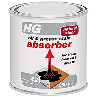 HG Natural Stone Oil & Grease Stain Absorber 300 ml – is an oil absorber which removes all types of oil and grease stains from porous stone surfaces