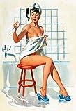 Pinup / pin up sexy frau klassich badezimmer