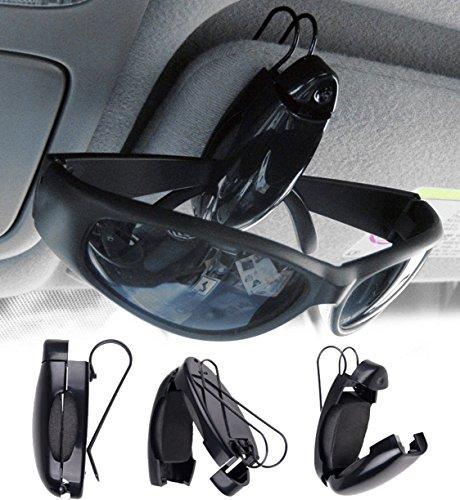 Stabiler ► Auto Brillenhalter Visor Clip für Sonnen- oder Zweitbrille Brillenhalterung, Brillenhalter für Auto Sonnenblende