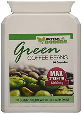 Better Bodies 6000 mg Green Coffee Bean Extract - Pack of 120 Capsules by Bionutricals