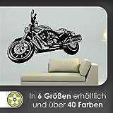 Motorrad Wandtattoo in 6 Größen - Wandaufkleber Wall Sticker