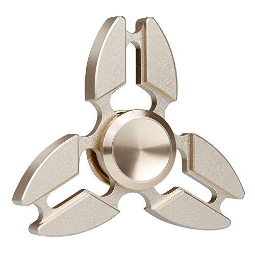 Produktbild Hand Spinner,  Vitutech Hand Spinner Fidget Tri-Spinner Fidget Spielzeug Ultra Dreieck Krabbe Form Dekompression Spinner Spielzeug für Kinder und Erwachsene ( Golden)