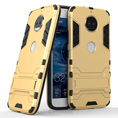 Motorola Moto G5S Plus / G6 Plus Hülle, Cocomii Iron Man Armor NEW [Heavy Duty] Premium Tactical Grip Kickstand Shockproof Hard Bumper Shell [Military Defender] Full Body Dual Layer Rugged Cover Case Schutzhülle XT1806/2/3/4/5 (Gold)