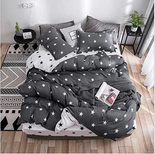 Urlaub Königin Tröster (SHJIA Tröster Bettwäsche-Sets Königin Bettbezug-Set Blumenbeet Feinstfaser-Set schwarz 180x220cm)