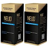 NEUD Permanent Hair Reduction for Unwanted Body and Facial Hair Pack of 2