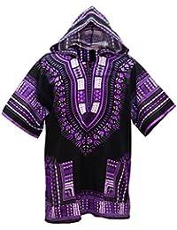 Lofbaz Unisex Dashiki Tradicional de África Camisa Hippy da729e4d3edb1