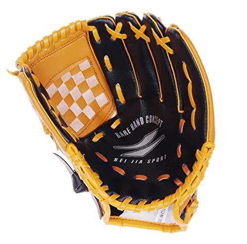 uh Sport Ball Handschuh-Schwarz, Blau & Khaki Outdoors Batting Handschuhe Für Kinder Und Erwachsene Catcher's Mitt,Blackandkhaki ()