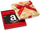 Amazon.de Geschenkkarte in  Geschenkbox - 40 EUR (Goldene Herzen)