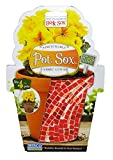 Misco Home & Garden PSX4/12-3 Pot Sox, 4-Inch, Red Mosaic Tile