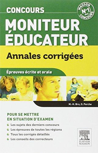 Concours Moniteur-éducateur Annales cor...