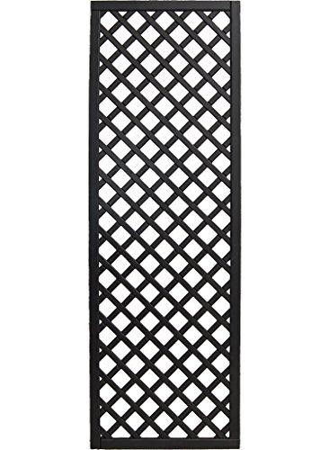 Andrewex Zaunelement 180 x 60 cm Gitter Holzgitter Spalier lasiert, Farbton Anthrazit aus Kieferholz