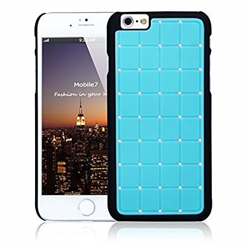 Posh Style Apple Iphone 6 LUXURY CRYSTAL Cross Diamond Blue Case Bling Hard Cover with Black Frame For Apple Iphone 6 By G4GADGET®