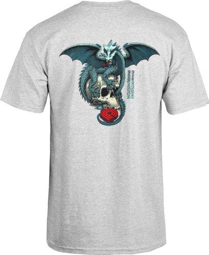 powell-peralta Dragon Skull T-Shirt grau