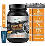 Naturyz Crea10 Creatine Supplement with Micronized Creatine Monohydrate and HCL, 5g Amino Blend