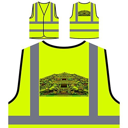 Schöne Indien Urlaub Reisen Die Welt Personalisierte High Visibility Gelbe Sicherheitsjacke Weste b357v