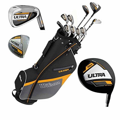 Wilson Ultra Herren Komplettes Golfschläger Set & Ständer Tasche Schläger aus Graphit Golf Komplettset Eisen Hölzer Driver Bag