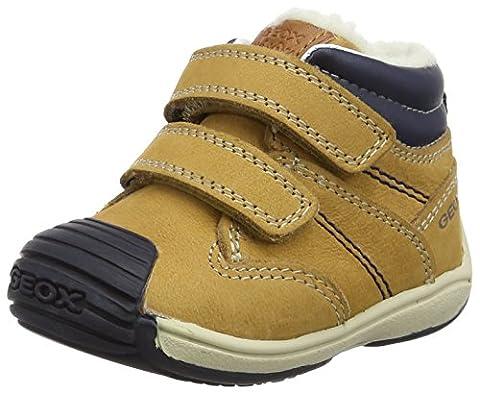 Geox B Toledo C, Sneakers Basses Bébé Garçon, Beige (Biscuit/Navy), 24 EU