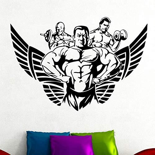 Muskulöser Mann Muster Wandaufkleber Für Jungen Schlafzimmer Gym Dekoration Abnehmbare Vinyl Wandtattoo selbstklebende Zubehör Poster 43 cm X 29 cm