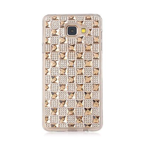 MOONCASE Galaxy A3 (2016) / A310 Hülle Glitzer Crystal Bling Strass Rückschale TPU Silikon Schutzhülle Tasche Case für Samsung Galaxy A3 (2016) / A310 Gold
