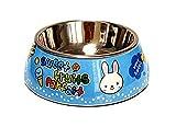 JinZhiCheng Zart Cartoon-Kaninchen-Edelstahl-Hundenapf Anti-Rutsch-Pet Bowl (Blau M)