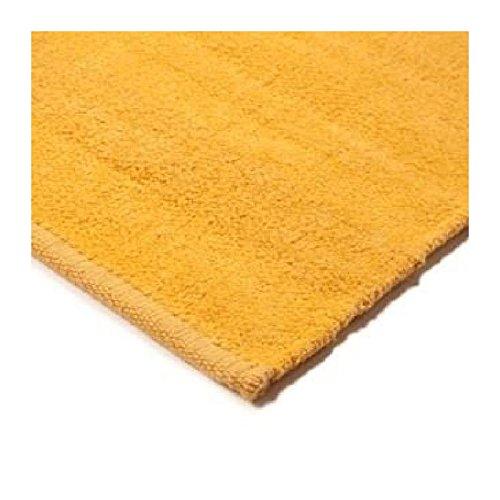 Monbeautapis Pflaume 500512Chenille Teppich Baumwolle 80x 50cm, Baumwolle, gelb, 80x50x5 cm -