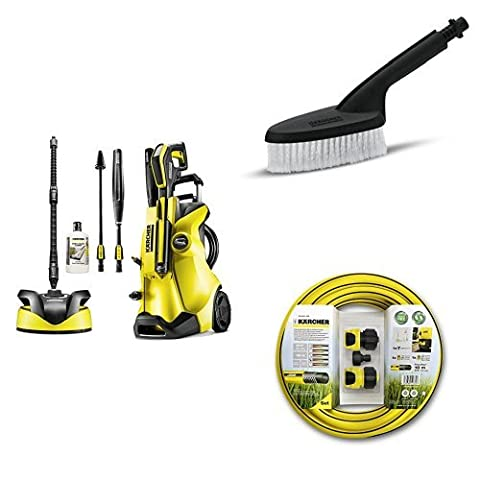 Kärcher K4 Full Control Home Pressure Washer with Hose Connection Set For Pressure Washers and Universal