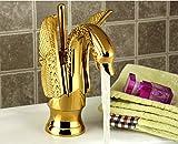 Retrò Fauceting Deluxe nuovo arrivo in finitura oro di alta qualità bagno a leva singola progettazione di uccelli bacino dissipatore di rubinetto rubinetto miscelatore vasca bagno rubinetto