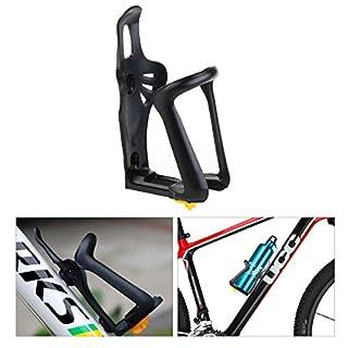 Foxnovo Universal verstellbaren Kunststoff-Fahrrad Bike Water Bottle Cage Holder (schwarz)