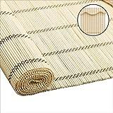 ZEMIN Sonnencreme Bambus Rollo Schatten Chinesischer Stil Abgeschnitten Wohnzimmer Natürlicher Bambus Teehaus Rollo Kann Angepasst Werden Schutz (Farbe : A, größe : 90x200cm)