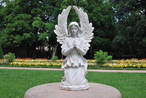 Engel knieend betend groß innen außen Grab Figur weiß