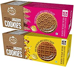 Early Foods - Assorted Pack of 2 - Organic Dry Fruit & Multigrain Millet Jaggery Cookies X 2