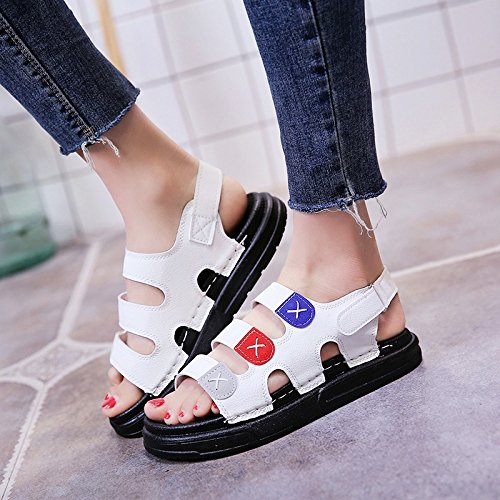 c191c5959e2018 LGK FA Summer Women S Sandals Summer Flat Bottom Low Heel Soft Sandals  Antiskid Shoes For Pregnant Women 40 White - Buy Online in Oman.