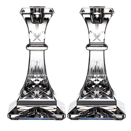 Waterford Crystal Lismore 40033483 Kerzenständer, 15,2 cm, 2 Stück Elegante Waterford Crystal