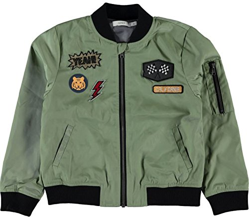 name it Jungen Piloten Bomber Jacke Nitmarten Grün / Oil Green (128)