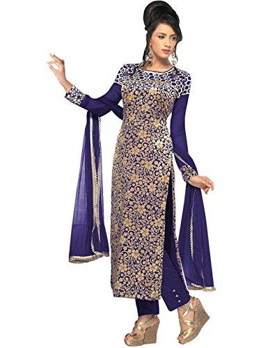 Salwar Kameez Dress For Women's ( VH FASHION Velvet Brasso embroidered Full...