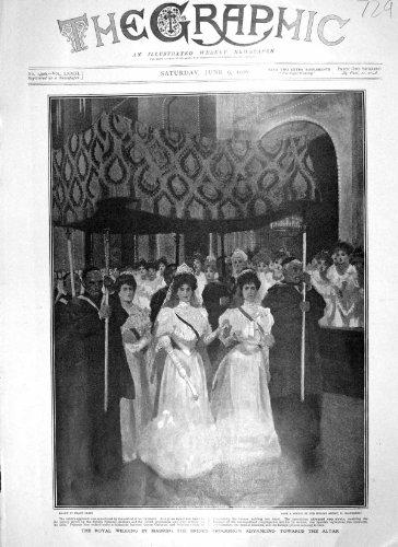 1906 MADRID BRAUT HOCHZEIT PROZESSION ALTAR QUEEN