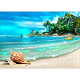 DIY 5D Full Drill Diamond Painting Rhinestone Embroidery Cross Stitch Arts Craft for Home Decoration Beach 11.8 x 15.7 inches