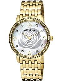 Orphelia Damen-Armbanduhr La Rose Analog Quarz Edelstahl