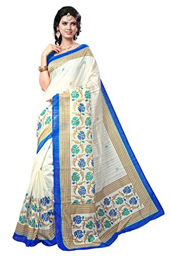 Winza Designer Cotton Saree With Blouse Piece (Multicolor_Free Size)