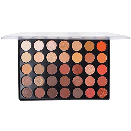 SMILEQ® 35 Farben Mattschimmer Erde Warme Farbe Lidschatten Palette Makeup Lidschatten (1 X, D) - Grüne Erde Textilien
