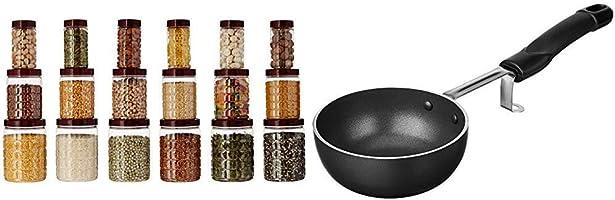 Amazon Brand - Solimo Checkered Jar