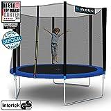 Kinetic Sports Outdoor Trampolin TPLH10 Gartentrampolin für Kinder und Erwachsene mit Randabdeckung und Sicherheitsnetz Ø 310 cm